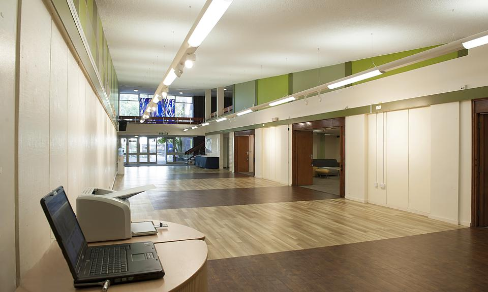 Foyer Office Uk : Apollo lighting ltd keele university foyer staffordshire