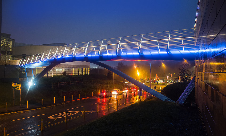 Image of Royal Stoke University Hospital Footbridge