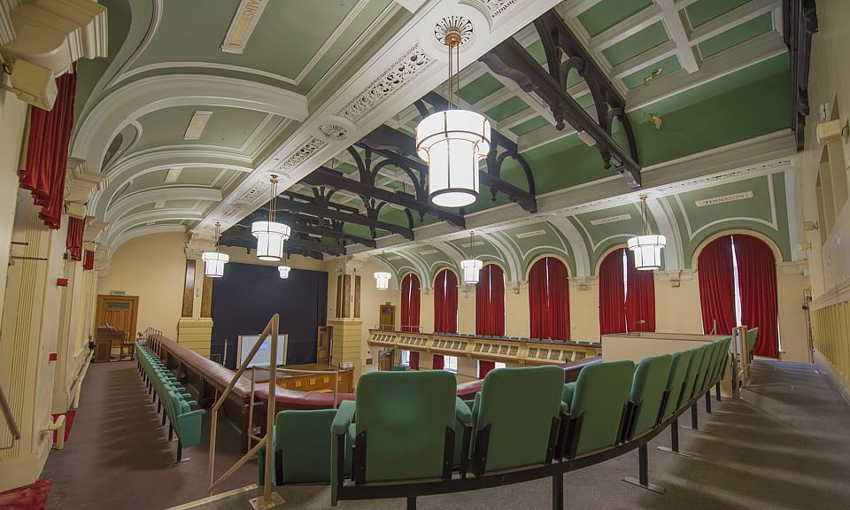 Image of Birkenhead Town Hall Council Chambers installation